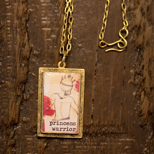 Princess Warrior Gold Necklace