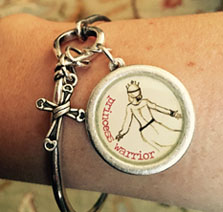 Princess Warrior Bracelet Charm